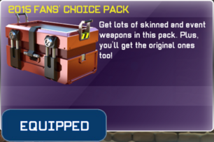 2015 Fans Choice Pack