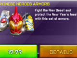 Chinese Heroes Armors