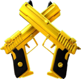 Dual Golden Pistol