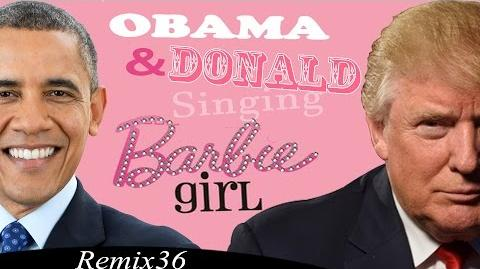Donald Trump And Barack Obama Singing Barbie Girl By Aqua - Remix 36