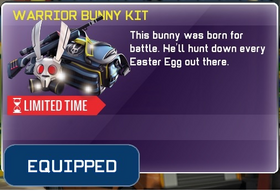 Warrior Bunny Kit equipped in Store