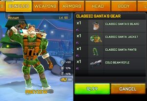 Classic santa's gear preview