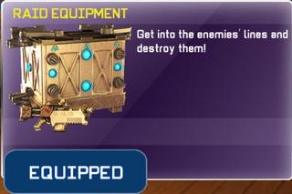 Raid Equipment equipped
