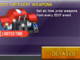 2017 Top Event Weapons