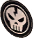 Skull badge icon