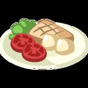 Tuna Steak with Vegetables