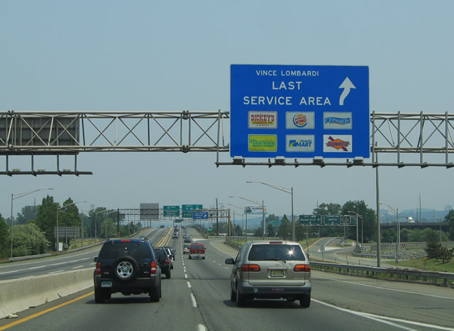 Vince lombardi rest stop directions