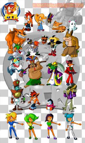 File:Crash Team Racing Characters by KimmotMan.jpg