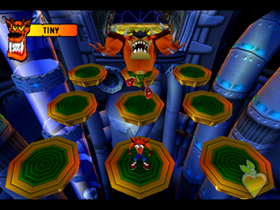 Tiny Tiger (Crash Bandicoot 2 Boss)