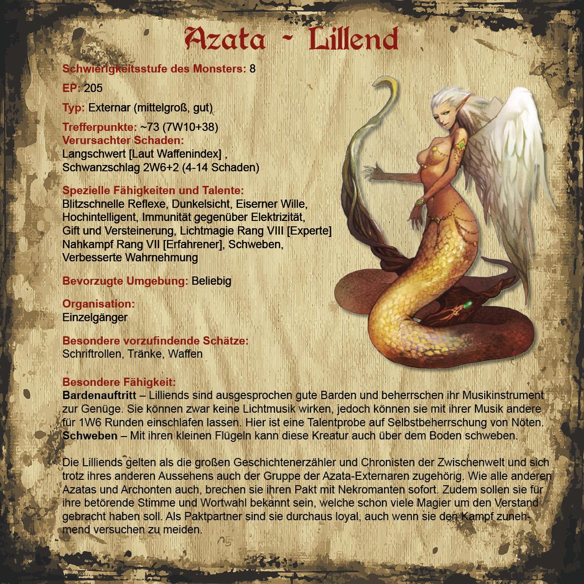 Azata - Lillend | Revaria Wiki | FANDOM powered by Wikia