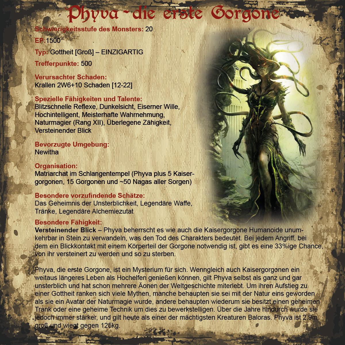 Phyva, die erste Gorgone | Revaria Wiki | FANDOM powered by Wikia