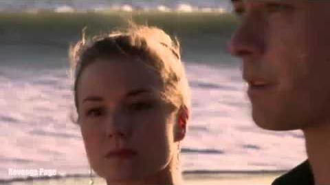 """Revenge 4x12 Emily and Ben Walk in the Beach """"Madness"""""""