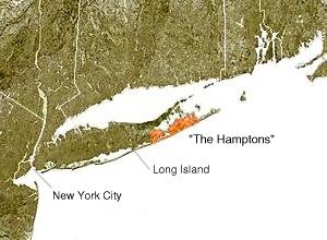 Hamptons-Karte