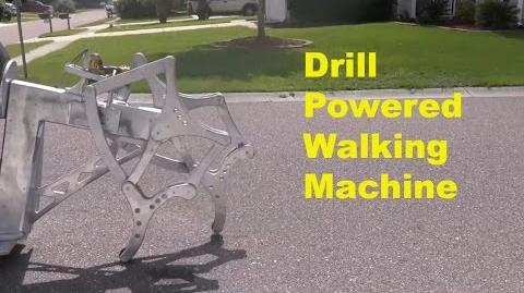 Drill-Powered Walking Machine