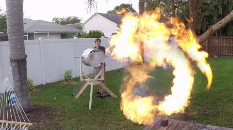 GoPro- Fire Vortex Cannon with the Backyard Scientist