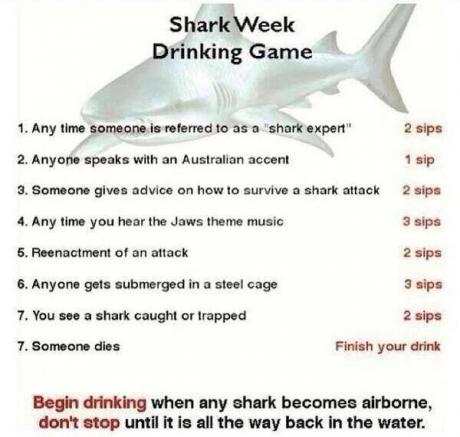 Shark week drinking game