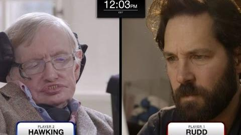 Stephen Hawking faces Paul Rudd in epic chess match (feat