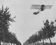 Alberto Santos Dumont flying the Demoiselle (1909)
