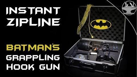 Batman Zipline using a Grappling Hook Gun