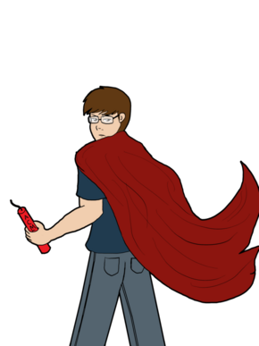 That guy with the cape by darthdespario-d4nl8o4