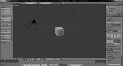 Blender v2.66.1 screen