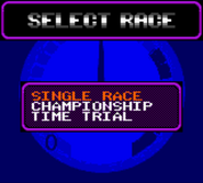 Race time select race