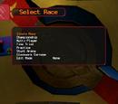 Race Type Menu