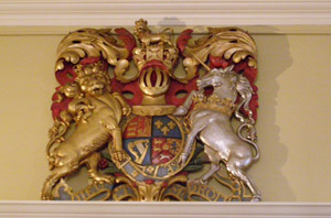 Lion and unicorn coat of arms