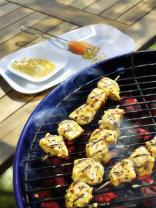 Curry-Hähnchen-Spieße
