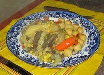 Aubergine mit Zucchini und Herzoginkartoffeln 26