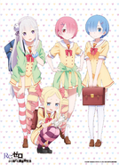 Re Zero School Characters Art