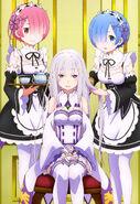 Re Zero Nyantype Poster 1