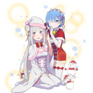 Re Zero x Uchi-hime Collaboration - Emilia y Rem