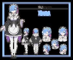 Rem Character Art