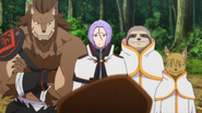 Julius, Ricardo, and members of The Fang of Iron - Re Zero Anime