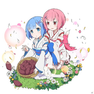 Ram y Rem Niñas Uchihime Collaboration