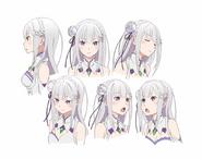 Emilia Character Art Face Angles