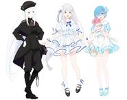 Echidna, Emilia & Rem AD