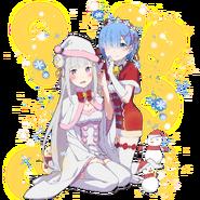 Emilia & Rem (Re Zero x Uchi-hime Collaboration)