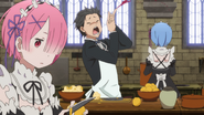 Subaru, Ram and Rem Working - Re Zero Anime BD