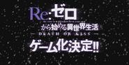 Re Zero - Death or Kiss Logo 2