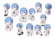 Rem Character Art Face Angles