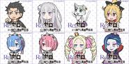 Re Zero SD - Personajes