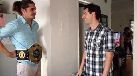 Mr. Survivor 2014 Malcolm Freberg Accepts the Mr. Survivor Championship Belt