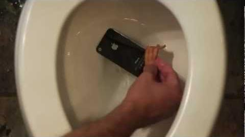 HIDDEN iPhone in a Toilet