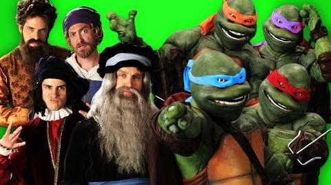 Artists vs Turtles. Behind the Scenes of Epic Rap Battles of History.