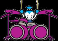 Samurai Drummer bass drums