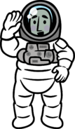 Astronaut without dialog clouds