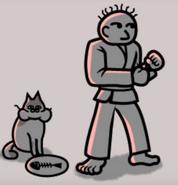 Karatejoeandhiscat
