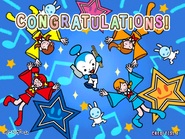 Congratulations screen arcade